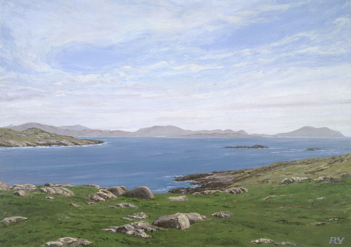 Husinish Bay and the Hills of South Harris
