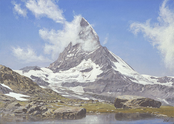 Matterhorn III, from the Riffelsee, Summer