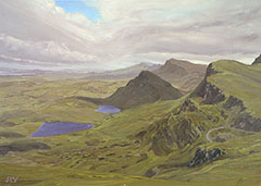 Ben Edra und Trotternish Ridge, Isle of Skye, Schottland